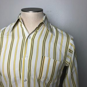 Other - Yellow & Blue Striped Shirt Vintage